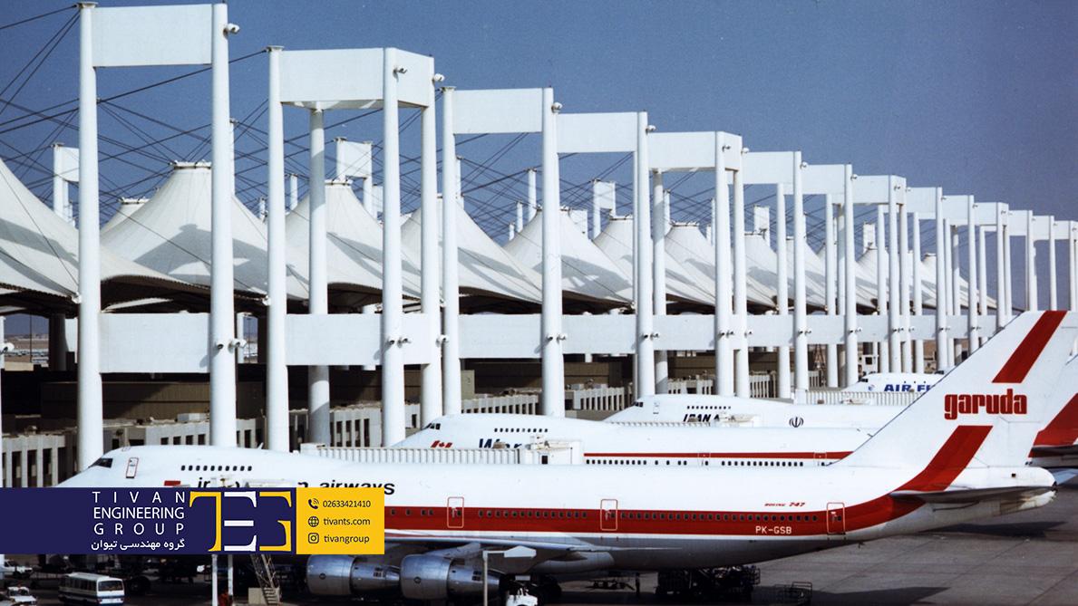 سازه کششی فرودگاه جده