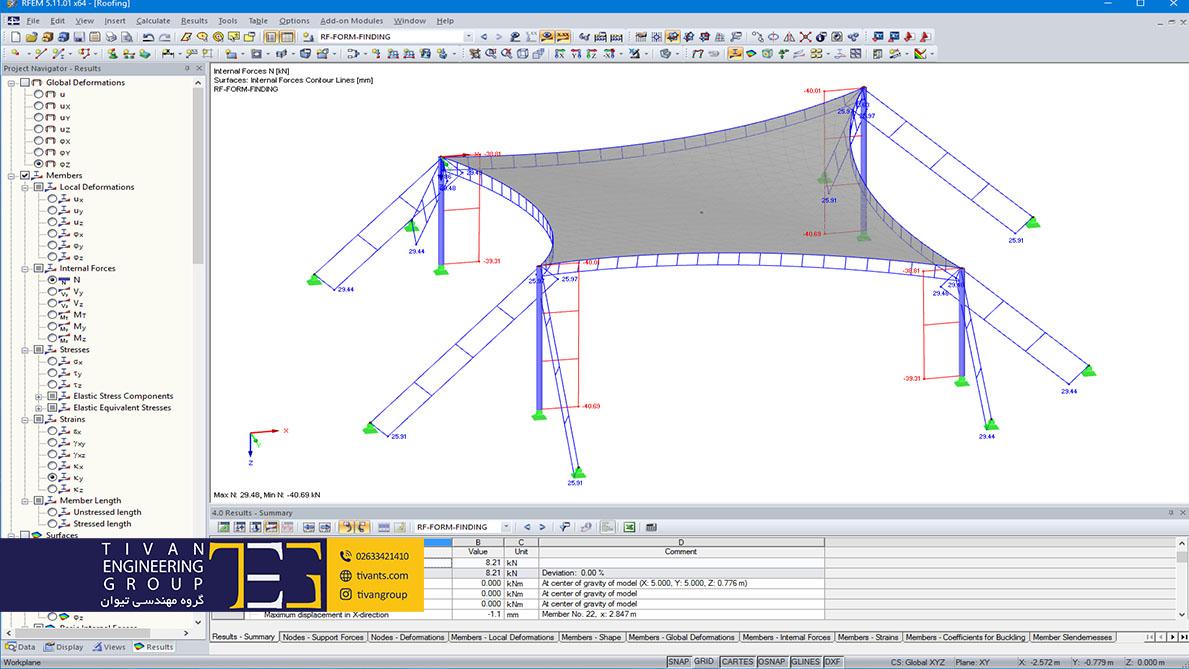 طراحی سازه پارچه ای