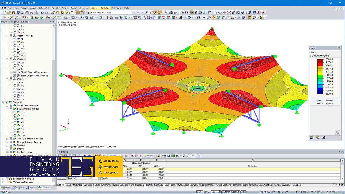 طراحی سازه چادری