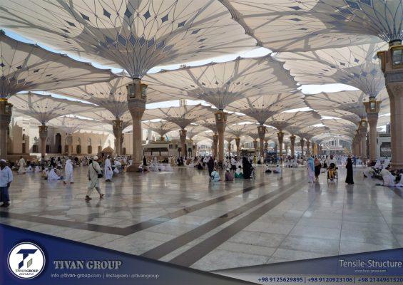 سایبان پارچه ای مسجد پیامبر