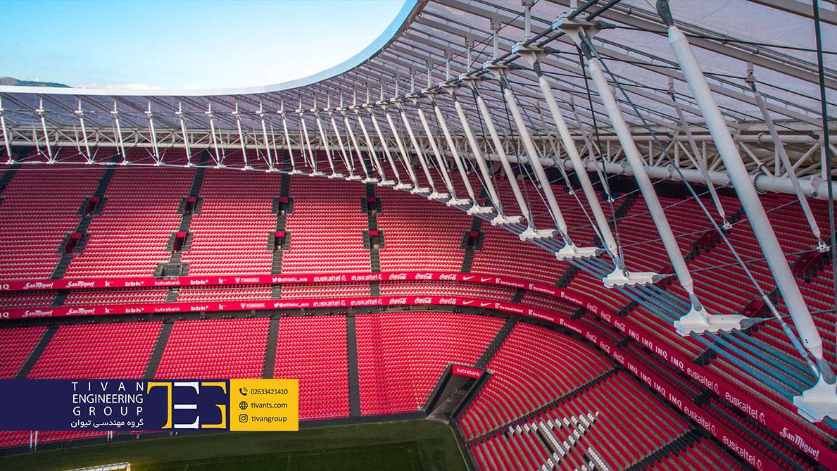 سازه های کابلی در ورزشگاه های بزرگ