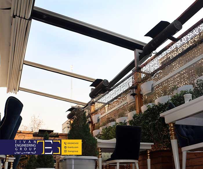 سقف متحرک رستوران گرپ در تهران