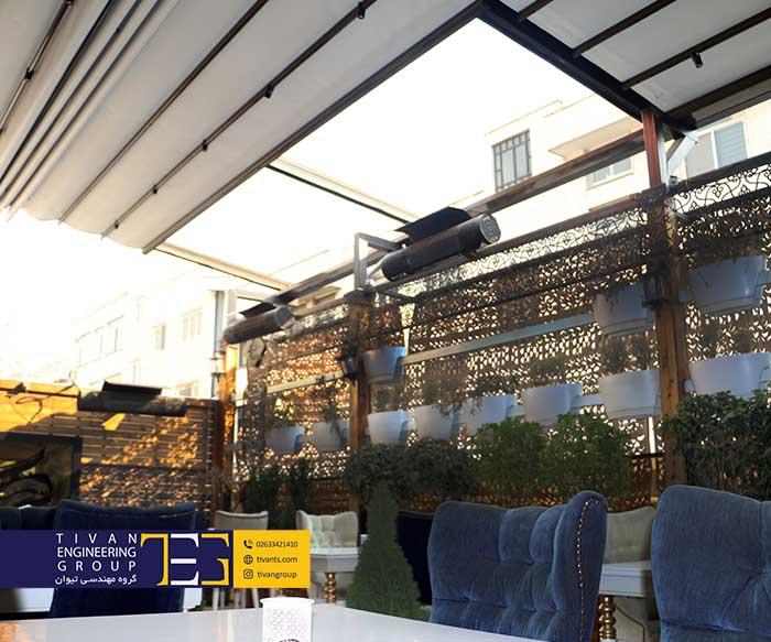 سقف متحرک رستوران تهران