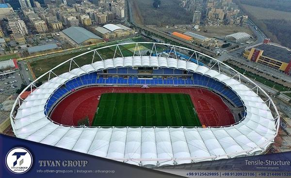 سازه پارچه ای ورزشگاه مشهد