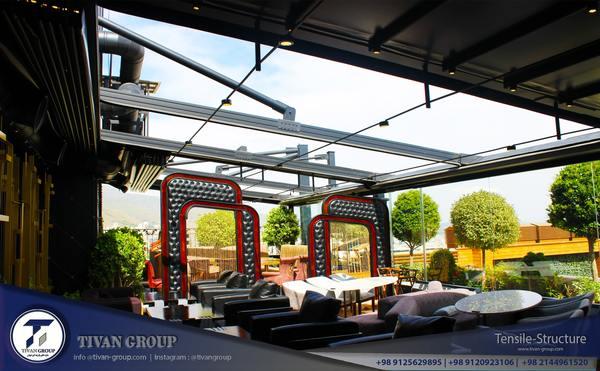 سقف متحرک برقی رستوران