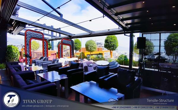 سقف متحرک رستوران روبل