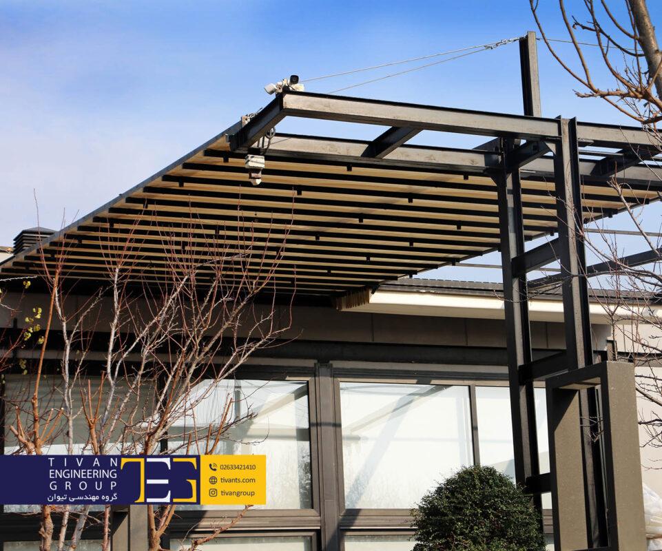 طراحی سقف متحرک استخر در شهریار کرج