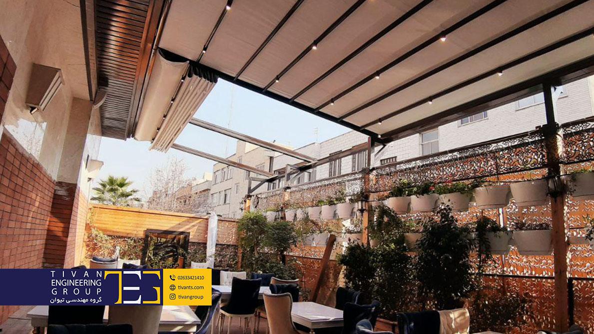 سقف متحرک کافه گرپ در تهران