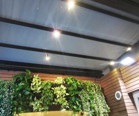 سقف متحرک حیاط خلوت