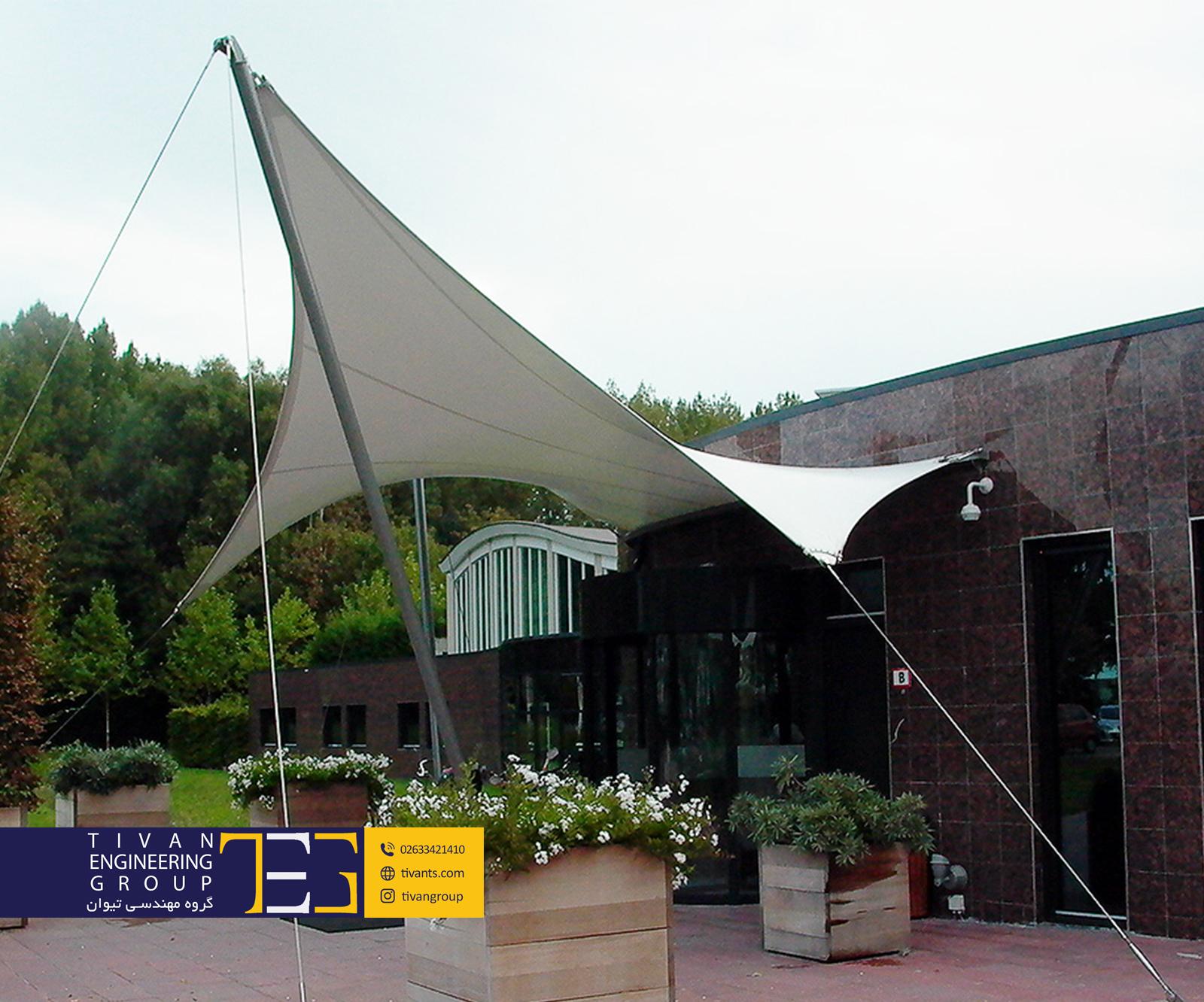 سایبان پارچه ای ورودی فرم زین اسبی