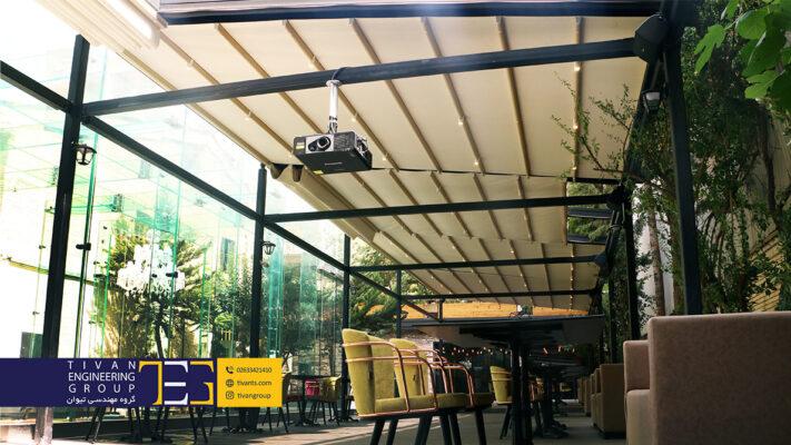 سقف متحرک کافه کتاب در پاسداران تهران