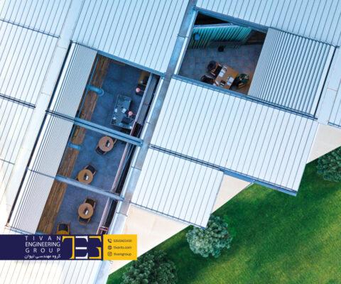 سقف متحرک آلومینیومی