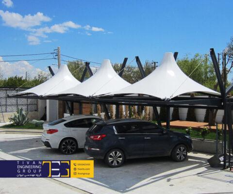 سایبان پارکینگ ماشین در ویلاهای کرج