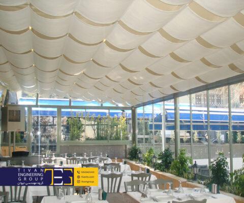 سقف متحرک کافه در بهترین کافه های تهران و کرج