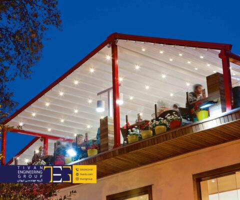 سقف متحرک پنت هاوس بهترین ایده برای پشت بام