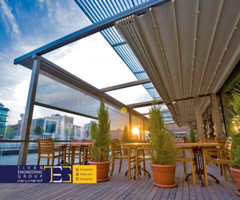 سقف متحرک چهار فصل بهترین سازه برای حیاط ویلا