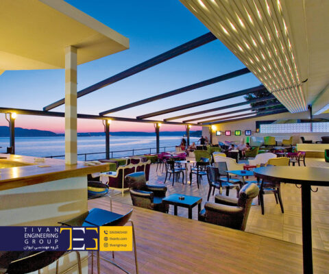 سازه متحرک برقی برای رستوران های لاکچری
