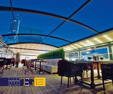 پوشش سقف برقی رستوران