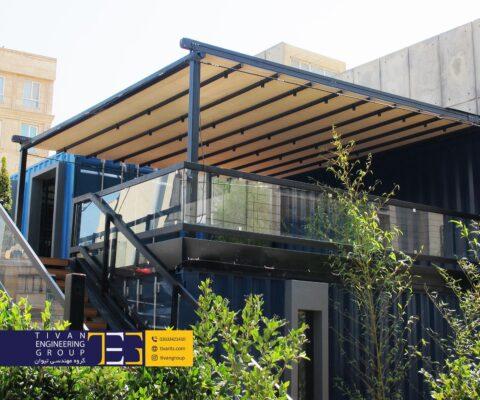 سقف متحرک رستوران کد در دانشگاه صنعتی شریف تهران