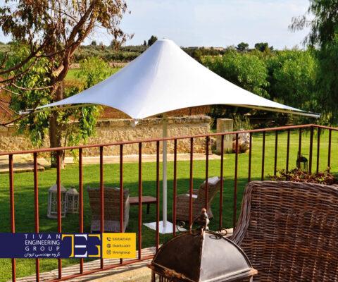 سازه چادری برای سایبان حیاط