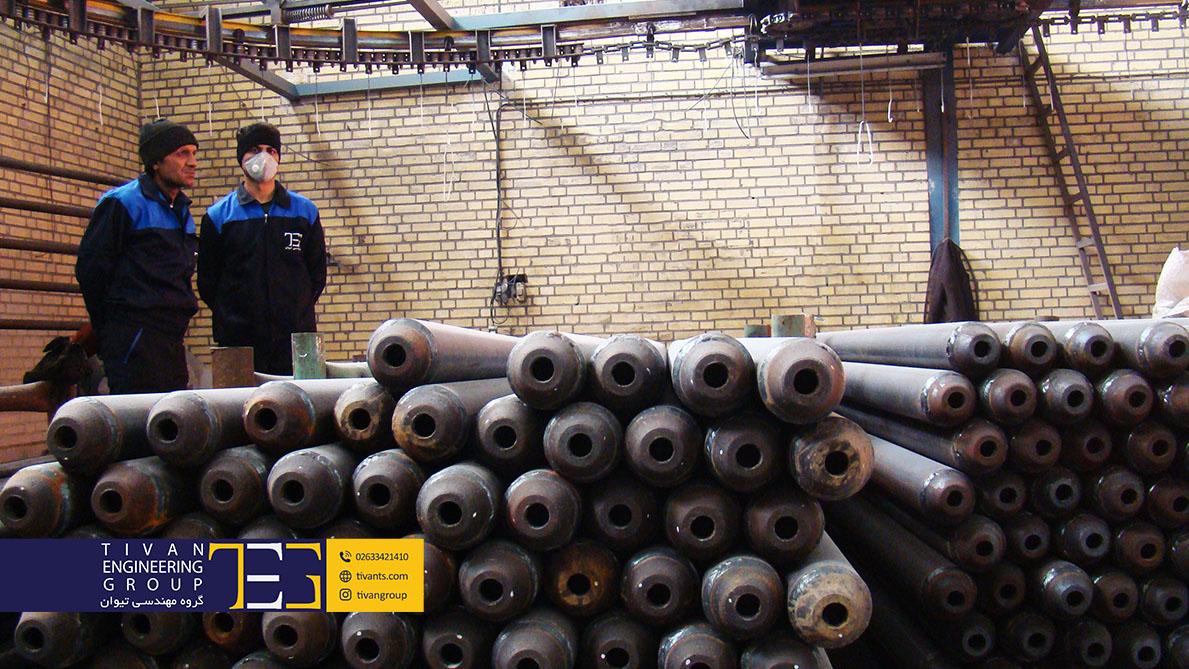 سازه آلومینیوم و آهن در کارگاه گروه مهندسی تیوان