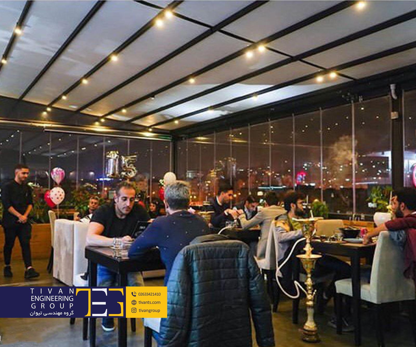 سقف متحرک رستوران 703 تهران