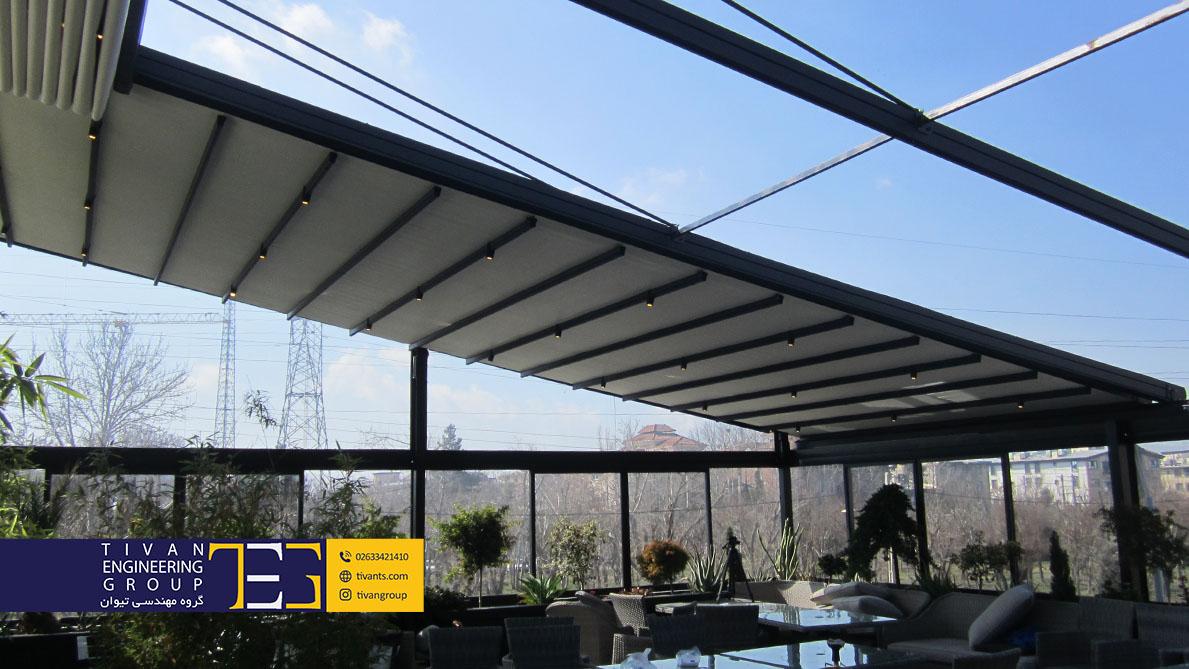 سقف برقی رستوران صاحبقرانیه مهرشهر کرج