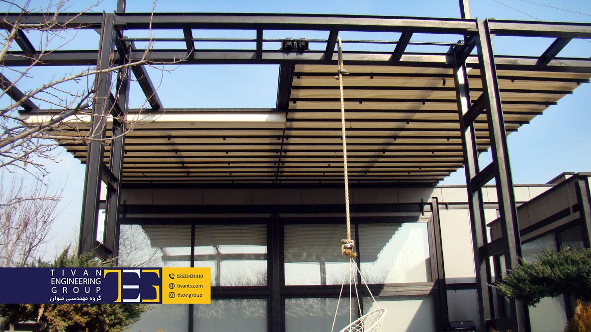 سقف متحرک استخر با بهترین کیفیت و عمر در شهریار تهران