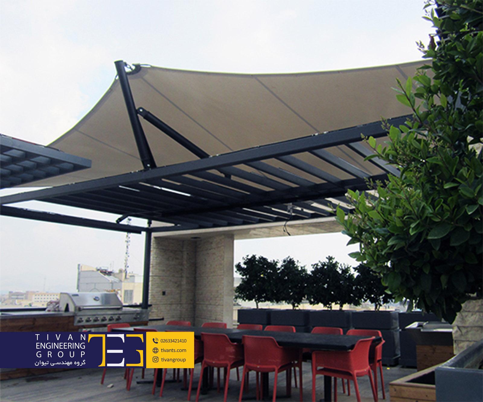 سایبان بام فضایی زیبا برای نشیمن در تهران