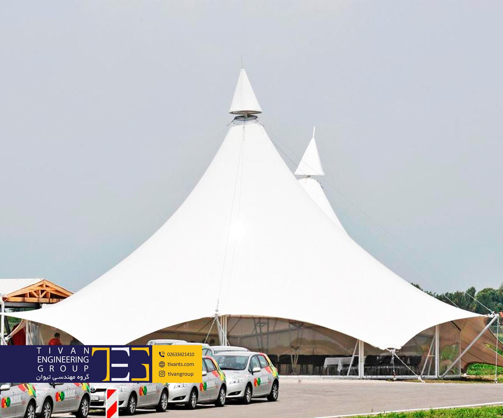 سازه های چادری در طرحی متفاوت