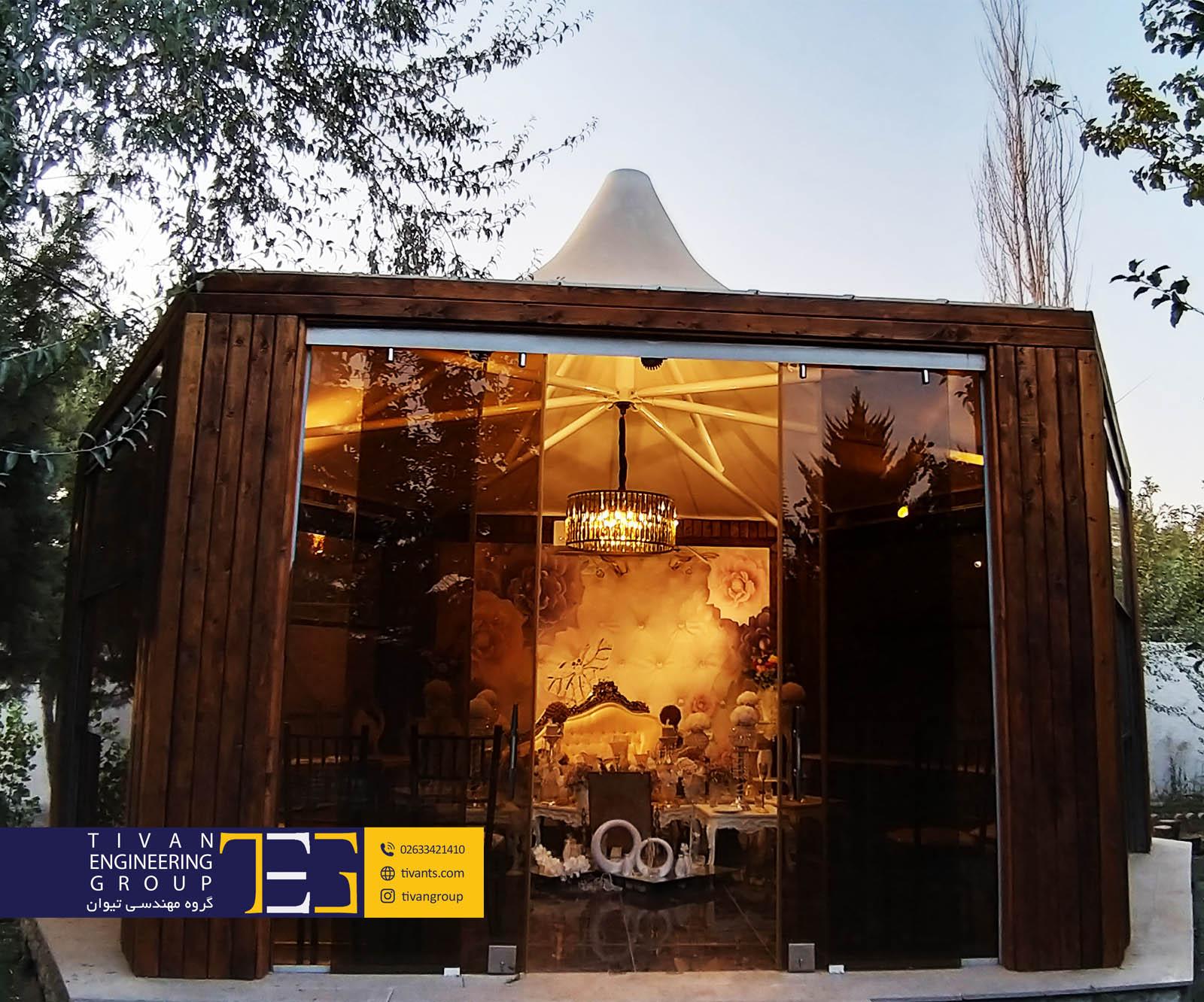 آلاچیق چادری در تالار شکوفه تهران