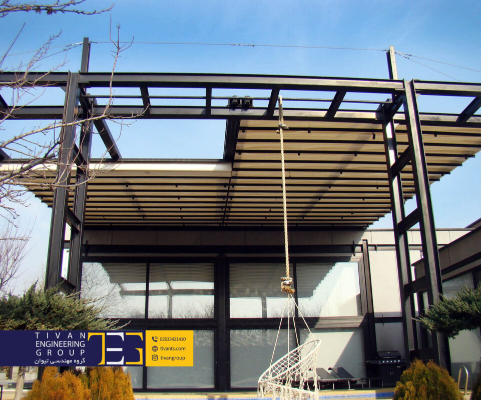 سازه چادری متحرک استخر شهریار