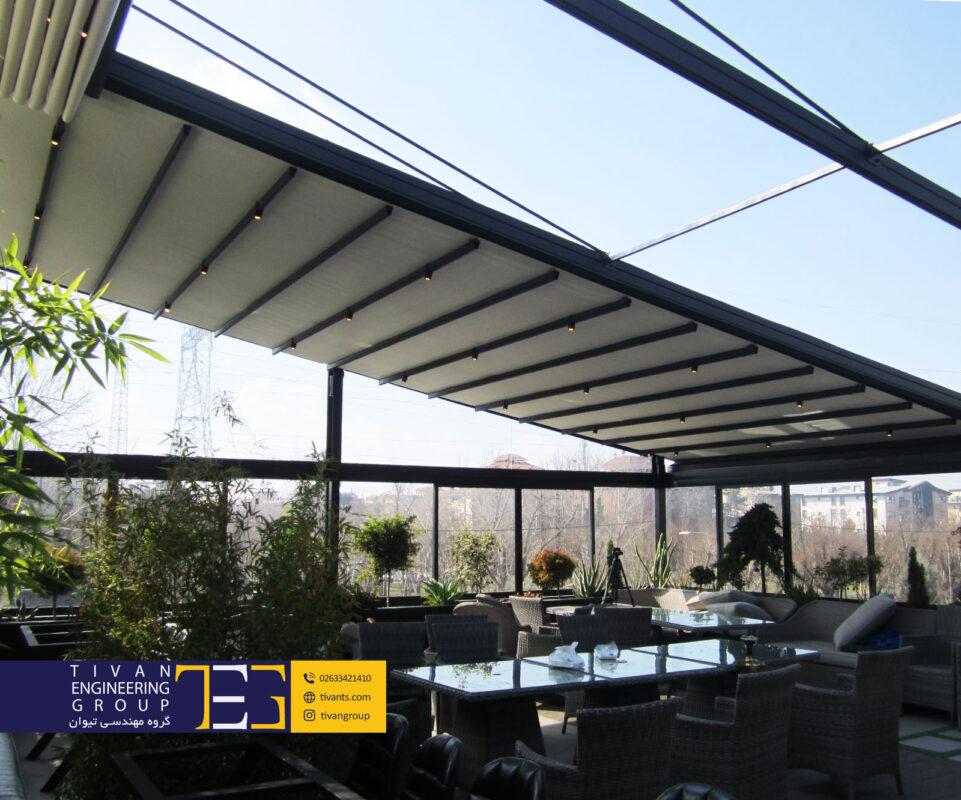 سازه چادری متحرک رستوران کرج