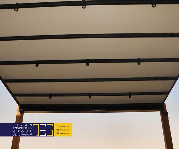 سقف باز و بسته شونده تراس ترهران