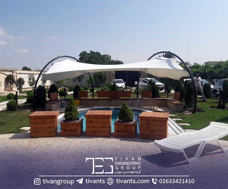 سازه های سبک چادری در ویلا