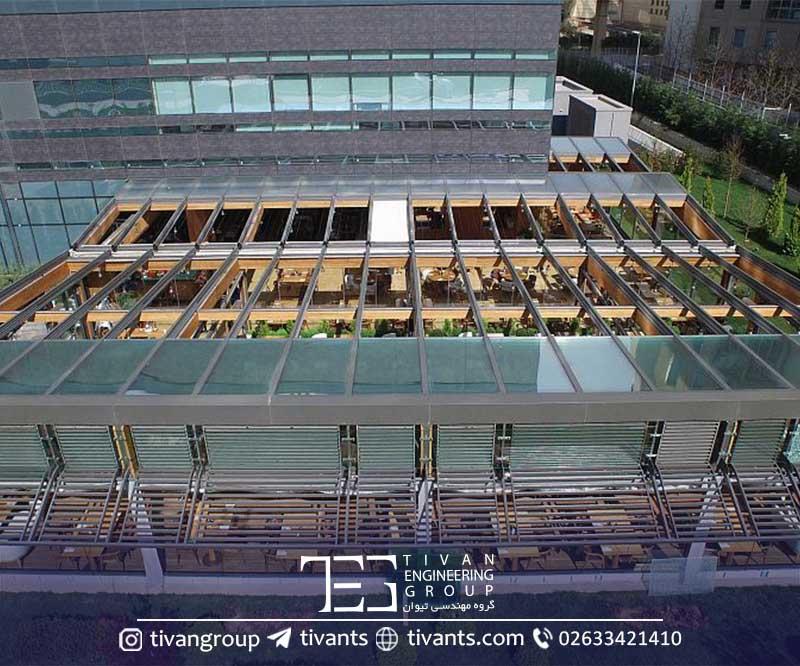 سازه متحرک شیشه ای سبک در تهران