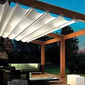 سقف متحرک برقی در حیاط