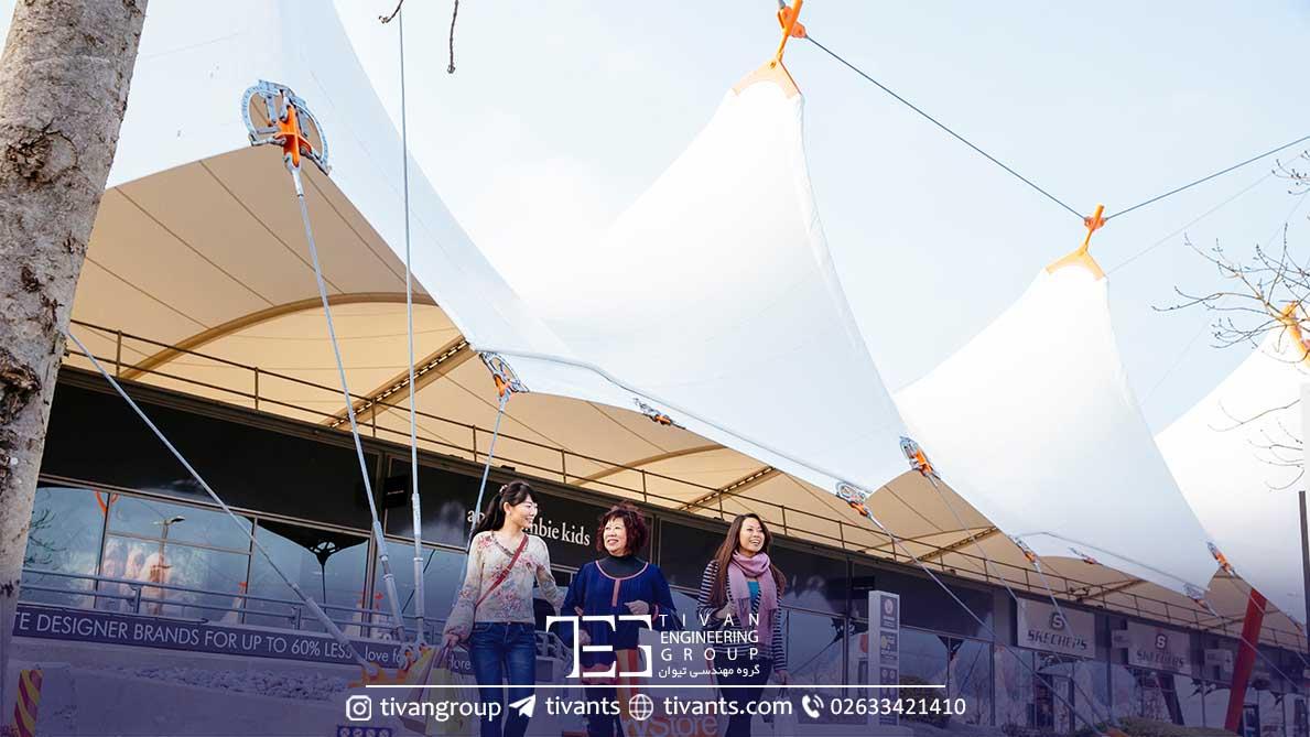 آشفورد انگلستان سازه چادری