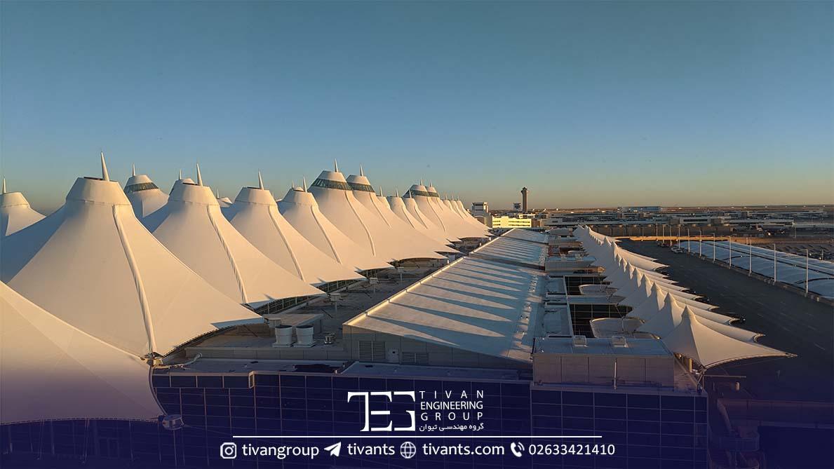 فرودگاه بین المللی دنور سازه کششی