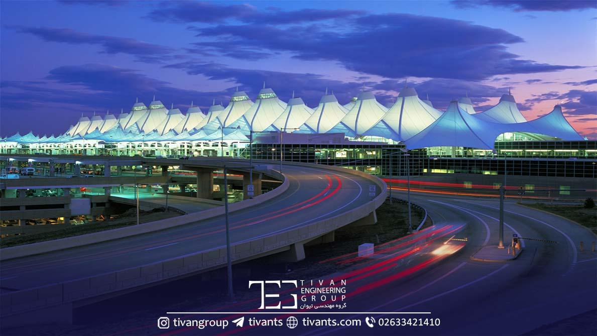 فرودگاه دنور سازه چادری بزرگ