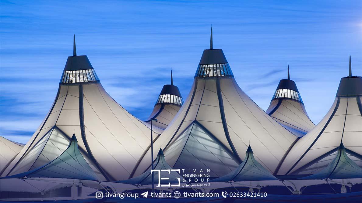 فرودگاه دنور سازه چادری معروف