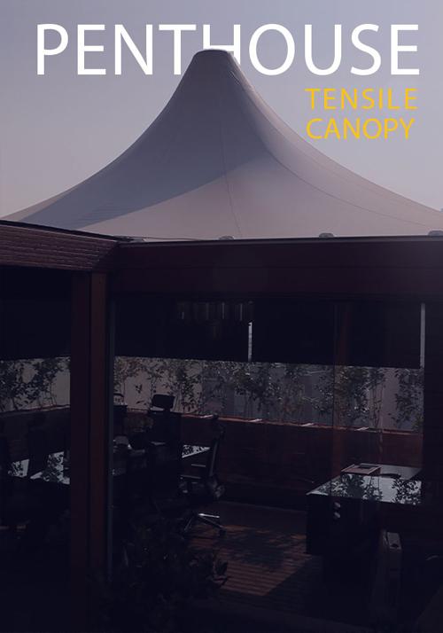 سازه چادری سبک در بام تهران