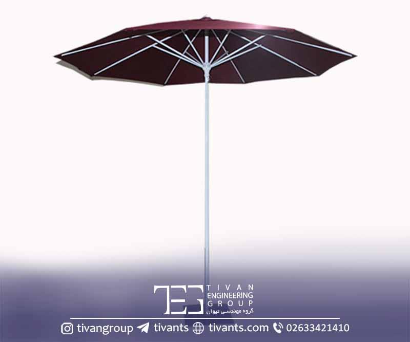 سایبان چتری با رنگ مختلف