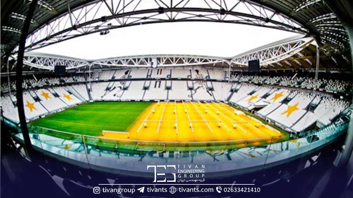 استادیوم تورین با سقف کششی